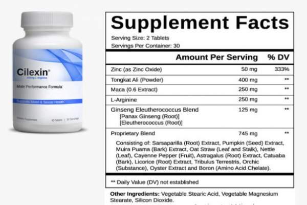 Natural Male Enhancement Supplement Facts